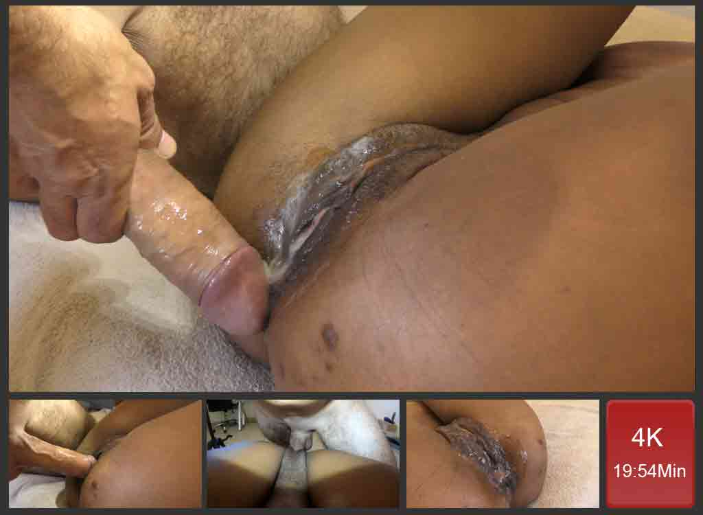 PUSH IT! CUM IS DRIPPING OUT OF HER PUSSY